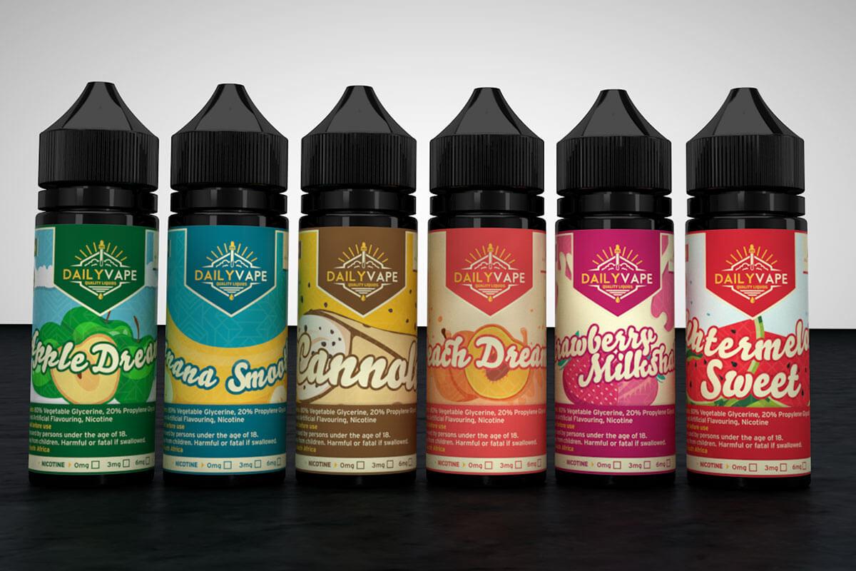 3d model bottles vape liquid render design