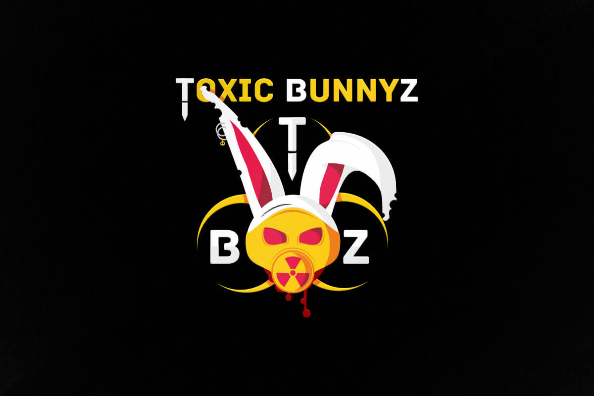 graphic design logo toxic bunny gaming esports