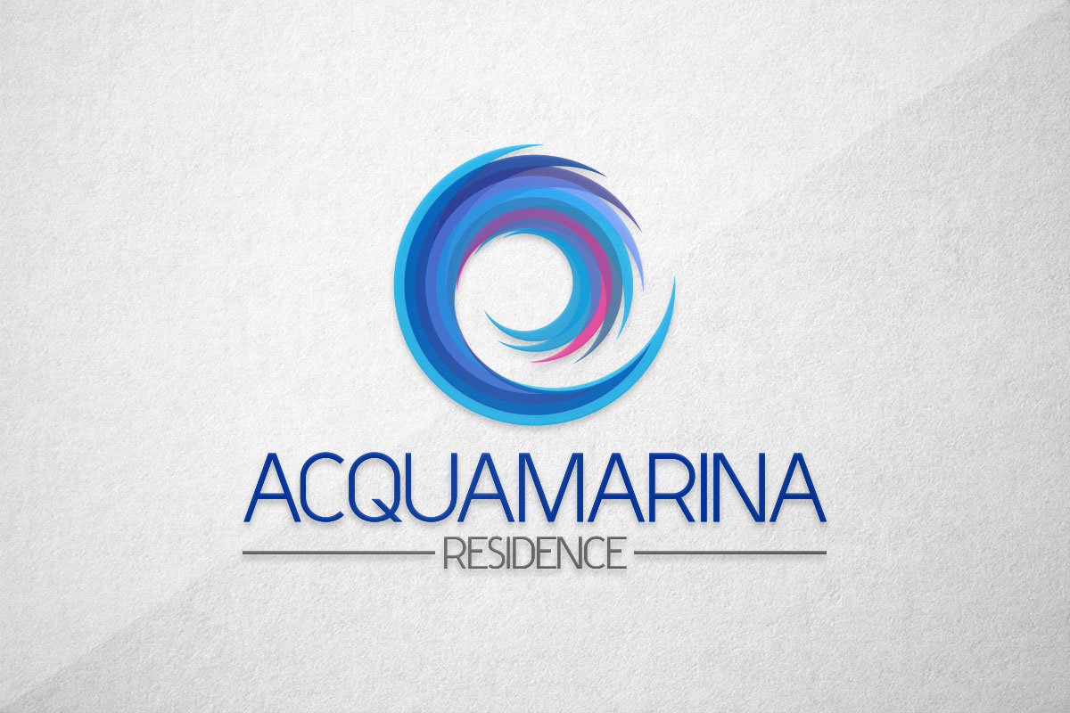 graphic design logo residence acquamarina