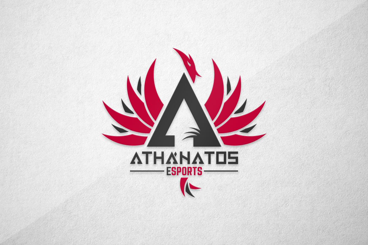 graphic design logo gaming esports athanatos
