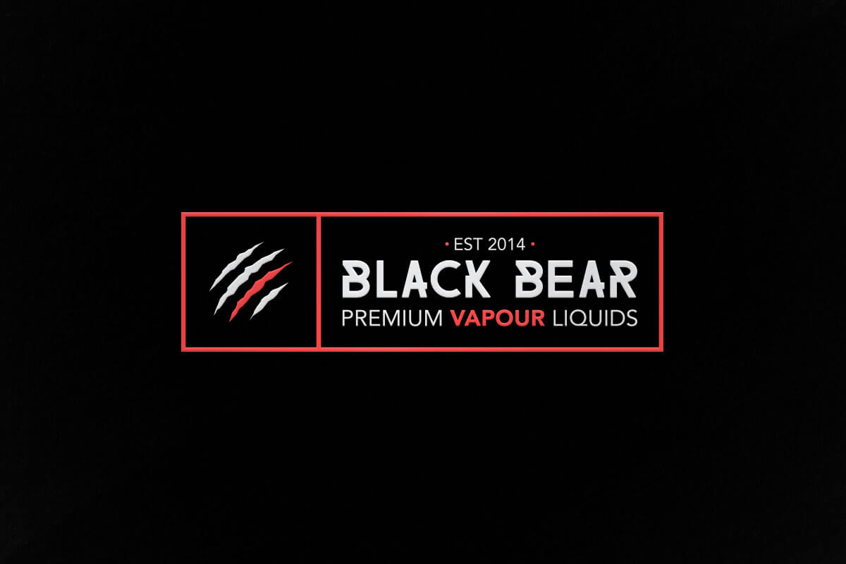 graphic design logo vape liquid black bear