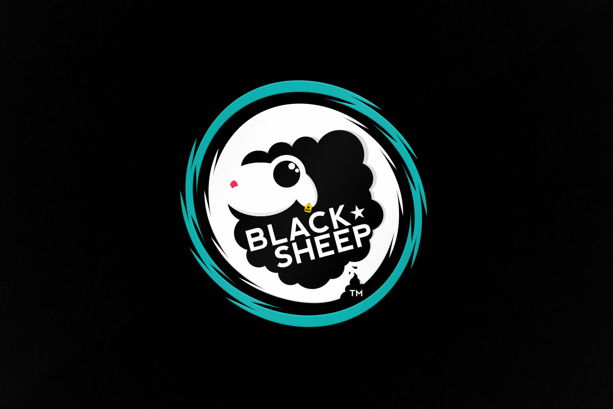 graphic design logo black sheep gaming esports