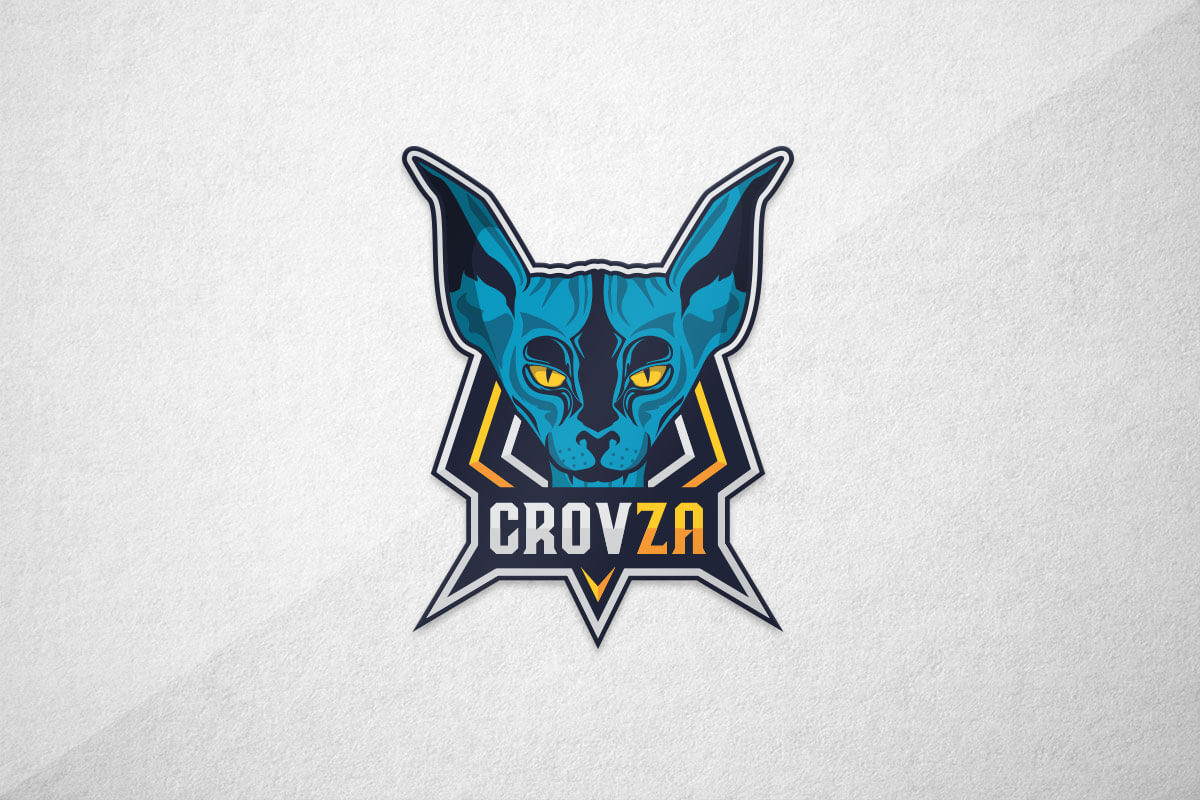 graphic design logo cat esports