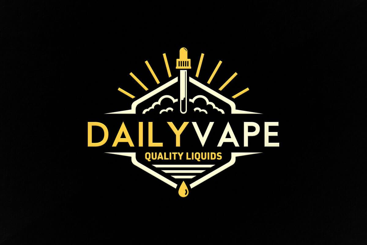 graphic design logo vape liquid daily