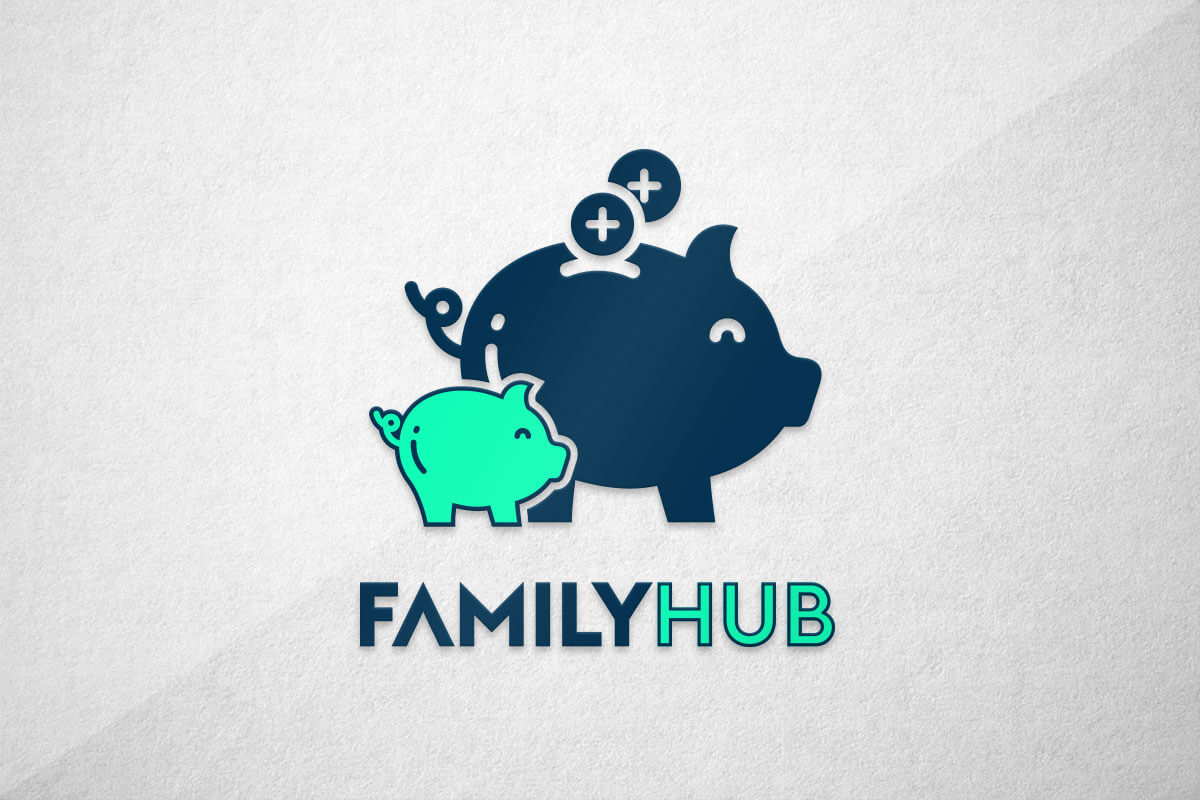 graphic design logo app money pig save
