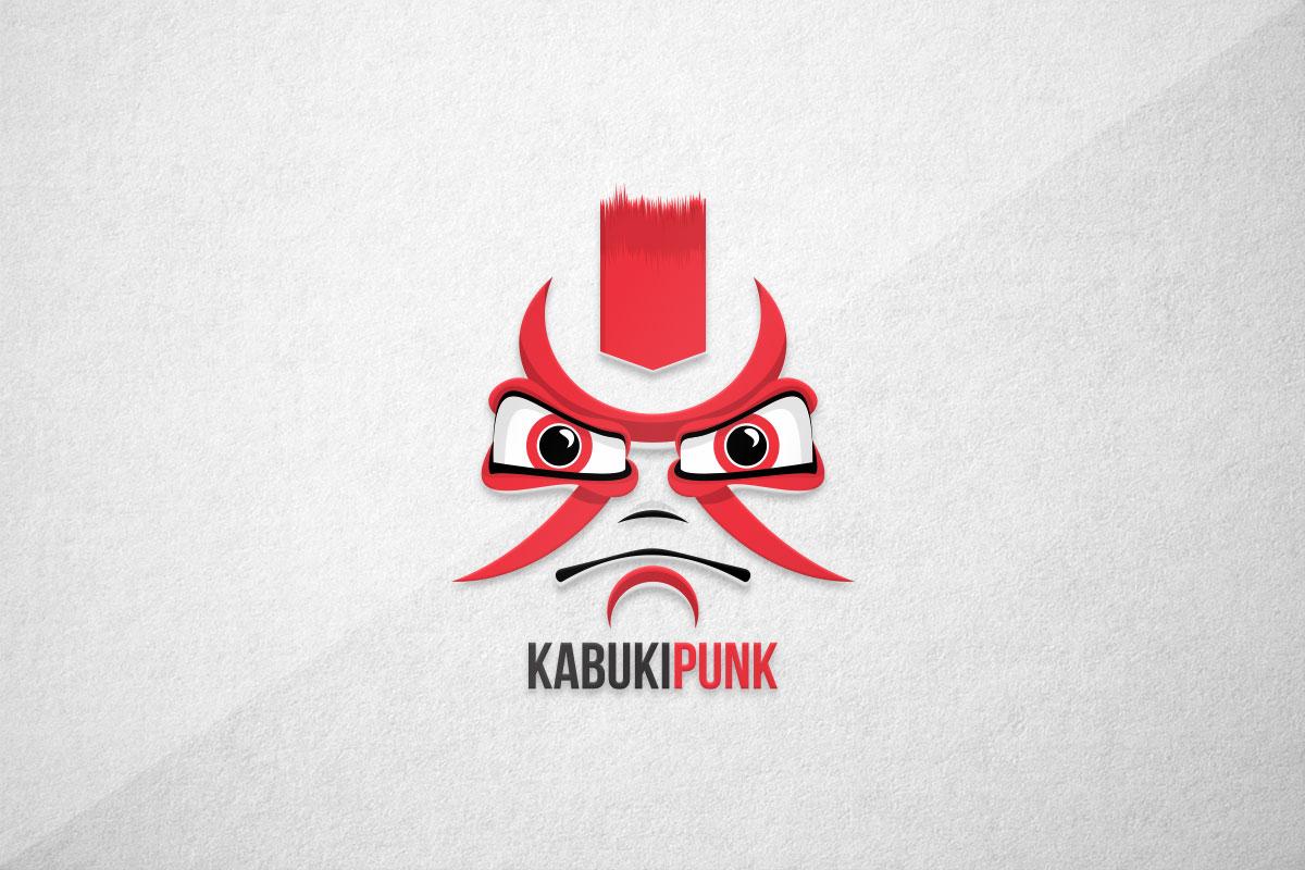 graphic design logo gaming esports kabuki punk