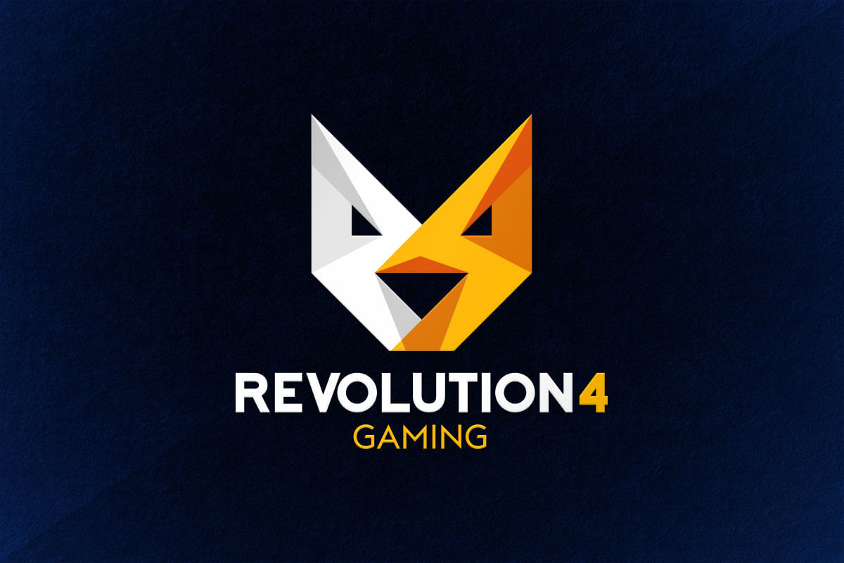 graphic design logo gaming esports revolution4 r4