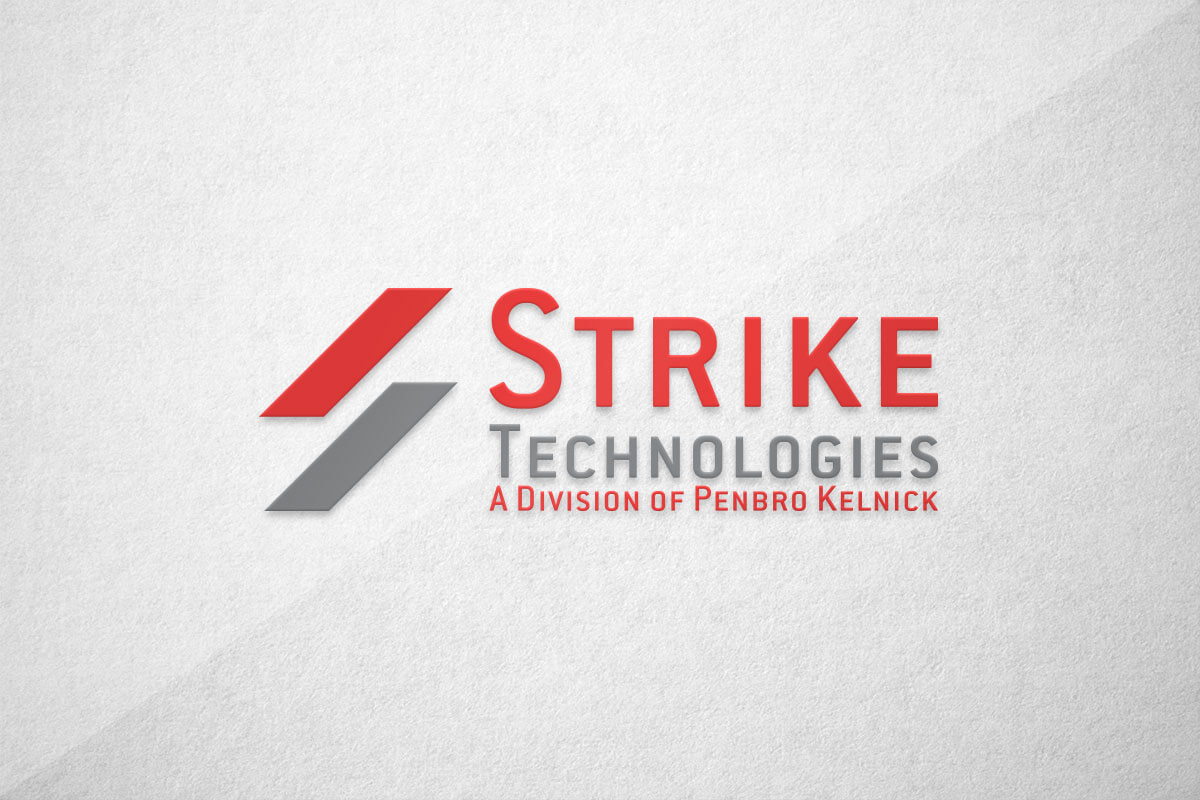 graphic design logo strike technologies penbro