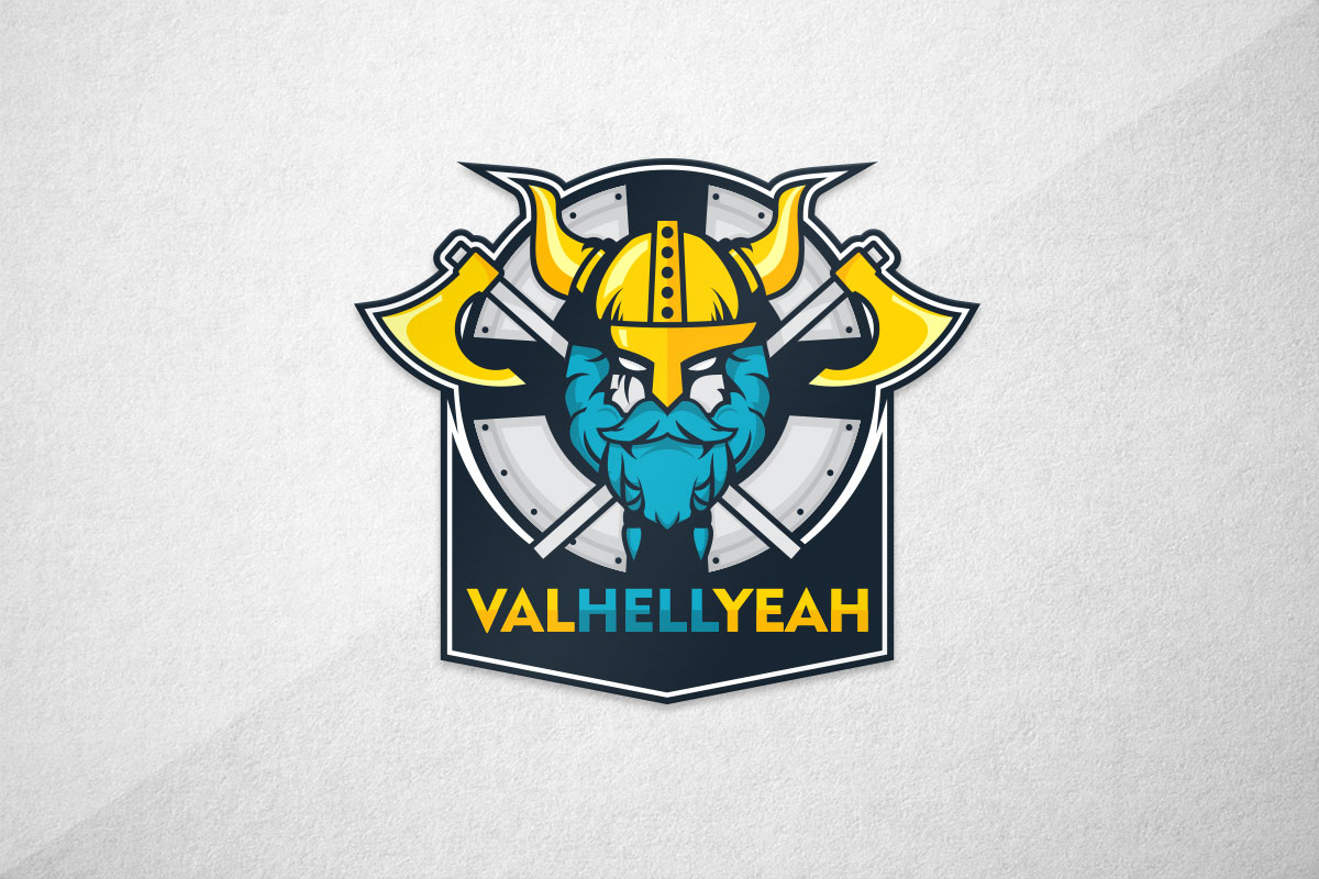 graphic design logo viking esports