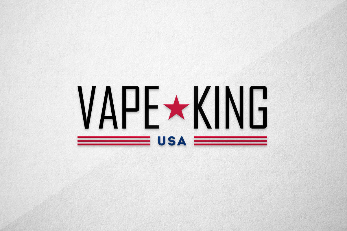 graphic design logo vape king usa liquid vape juice