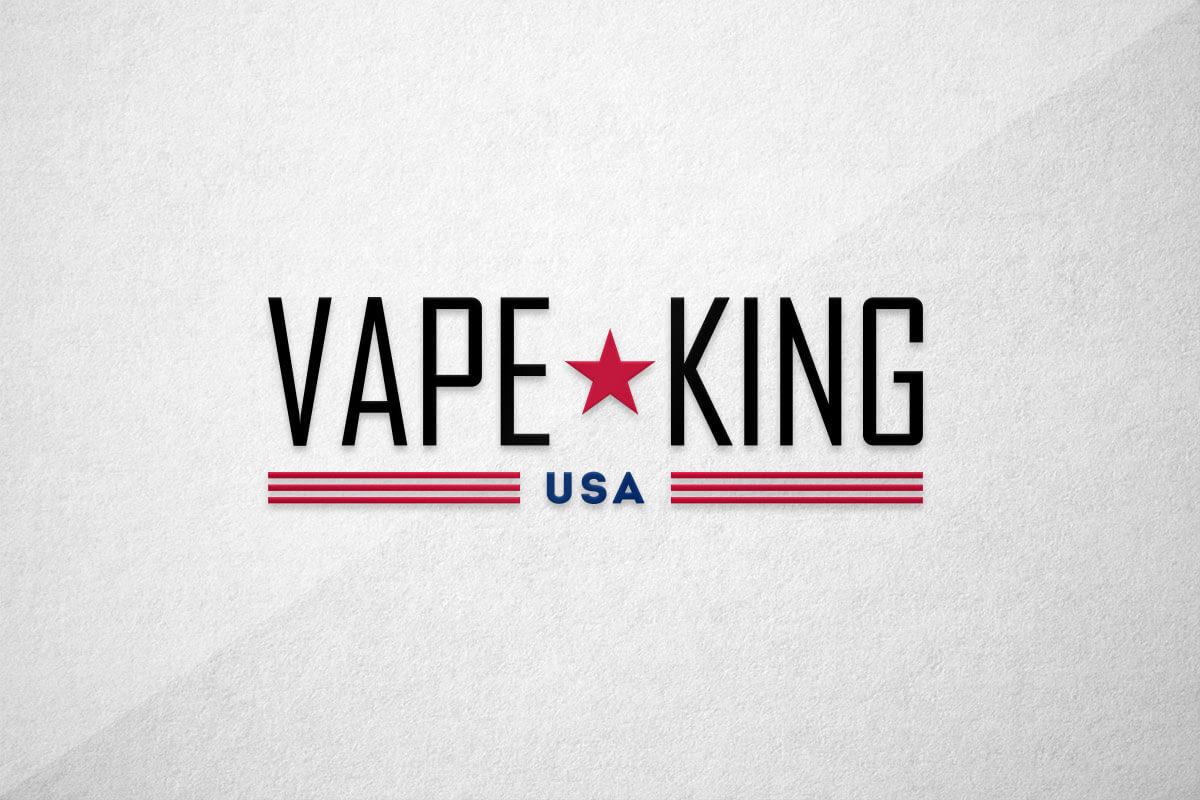 graphic design logo vape king usa liquid vape juice