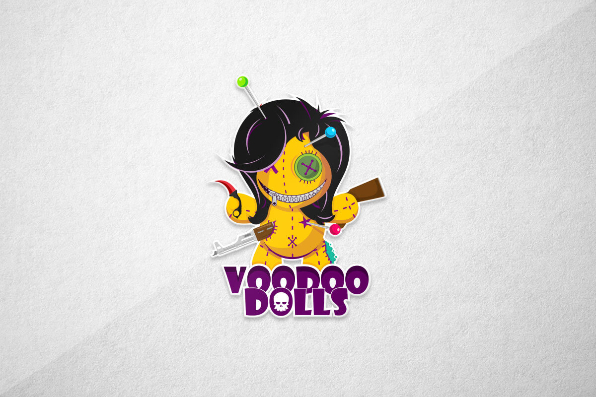 graphic design logo voodoo doll esports